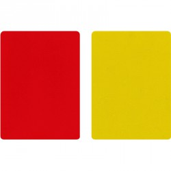 Bírói lap piros/sárga Sportszer Winner