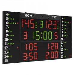 Multisport eredményjelző 241x143x9 cm beltéri Elektromos eredményjelző