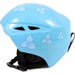 Sí sisak női, lány kék virágos sérült csomagolás Sí, snowboard sisak