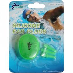 Swimfit 404030 füldugó szilikon 3 db/cs zöld Sportszer Swimfit