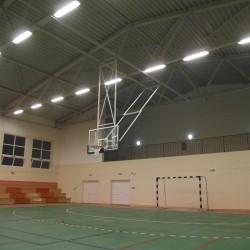 Kosárállvány, mennyezetre felhúzható, elektromos vezérléssel Sportszer
