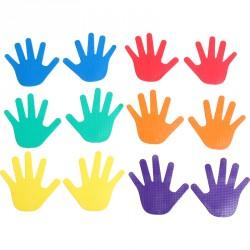 Kéz alakú padlójelölő szett 12 db Aktivsport Sportszer Aktivsport