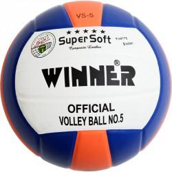 Röplabda, VS-5 ragasztott PU kék-fehér-narancssárga Sportszer Winner