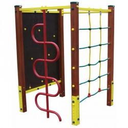 Négyszögletű mászótorony, kígyó és nyújtórúddal Játszótéri eszközök