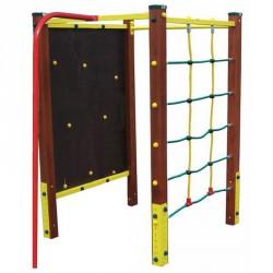 Négyszögletű mászótorony, tűzoltó és nyújtórúddal Játszótéri eszközök