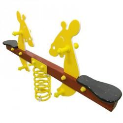 Kétüléses rugós mérleghinta figurás felépítménnyel Játszótéri eszközök