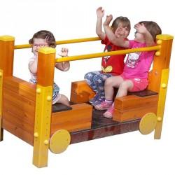 Nyitott vonat kocsi Játszótéri eszközök