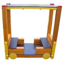 Fedett vonat kocsi Játszótéri eszközök