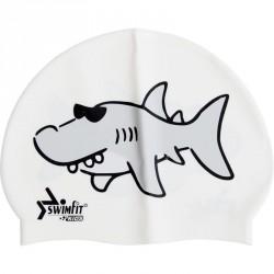 Úszósapka Swimfit cápás fehér BLACK FRIDAY Swimfit