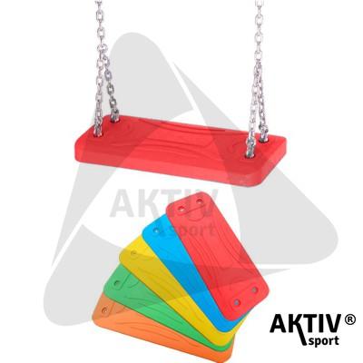 Alubetétes laphinta gumiborítású 1,8 m-es lánccal piros