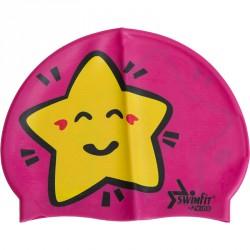 Úszósapka Swimfit csillagos rózsaszín BLACK FRIDAY Swimfit