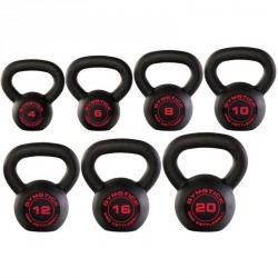 Kettlebell Gymstick Pro fekete 6 kg Sportszer Gymstick