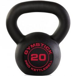 Kettlebell Gymstick Pro fekete 20 kg Sportszer Gymstick