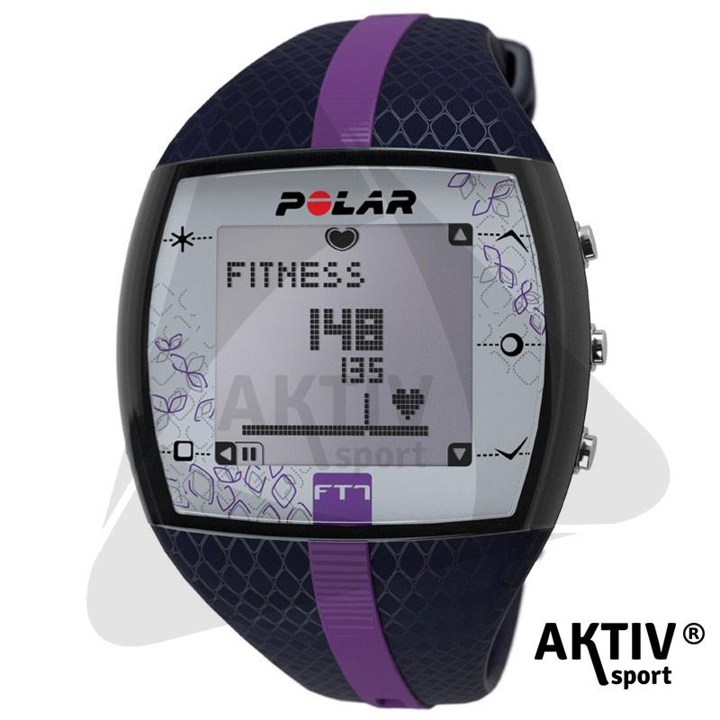 Polar FT7F női pulzusmérő óra sötétkék lila csíkkal - Sportórák ... 78d77bc71e