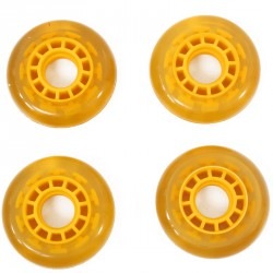 Görkorcsolya kerék 70 mm sárga Sportszer Spartan