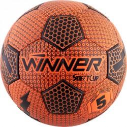 Winner Street Cup futball labda méret:5 narancs - fekete Sportszer Winner