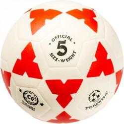 Football kogelán fehér-piros méret: 5 Sportszer