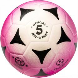 Football kogelán lila-fehér méret: 5 Sportszer