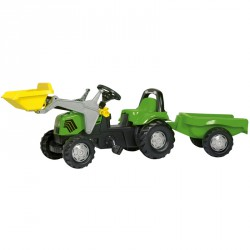 Pedálos markolós traktor utánfutóval Rolly Kid Deutz-Fahr Rolly Kid Deutz-Fahr Pedálos járművek Rolly Toys