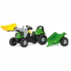 Pedálos markolós traktor utánfutóval Rolly Kid Deutz-Fahr Pedálos járművek Rolly Toys