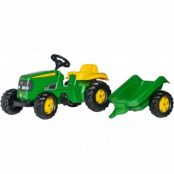 Pedálos traktor utánfutóval Rolly Kid John Deere Pedálos járművek Rolly Toys