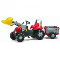 Pedálos markolós traktor utánfutóval Rolly Junior Pedálos járművek Rolly Toys
