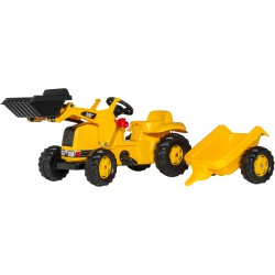 Pedálos markolós traktor utánfutóval Rolly Kid CAT Pedálos járművek Rolly Toys
