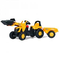 Pedálos markolós traktor utánfutóval Rolly Kid JCB Pedálos járművek Rolly Toys