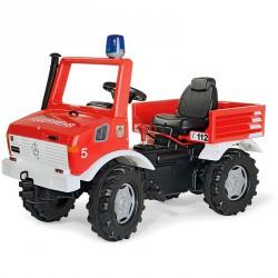 Pedálos tűzoltóautó Rolly FarmTrac Mercedes Unimog Pedálos járművek Rolly Toys
