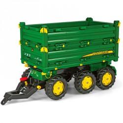 Háromtengelyes utánfutó Rolly Multitrailer John Deere Pedál nélküli járművek Rolly Toys