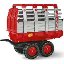 Duplatengelyes szénaszállító utánfutó Rolly Trailer Pedál nélküli járművek Rolly Toys