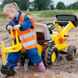 Pedálos markolós traktor exkavátorral Rolly Junior New Holland Pedálos járművek Rolly Toys