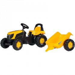 Pedálos traktor utánfutóval Rolly Kid JCB Pedálos járművek Rolly Toys
