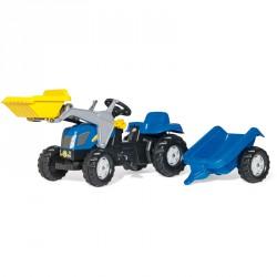 Pedálos markolós traktor utánfutóval Rolly Kid New Holland T 7040 Pedálos járművek Rolly Toys