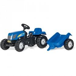 Pedálos traktor utánfutóval Rolly Kid New Holland T 7040 Pedálos járművek Rolly Toys