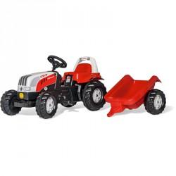 Pedálos traktor utánfutóval Rolly Kid Steyr 6160 CVT Pedálos járművek Rolly Toys