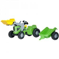 Pedálos markolós traktor utánfutóval Rolly Kiddy Futura Pedálos járművek Rolly Toys