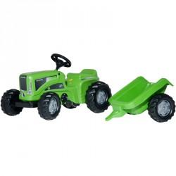 Pedálos traktor utánfutóval Rolly Kiddy Futura BLACK FRIDAY Rolly Toys