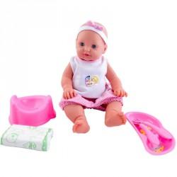 Loko pisilő baba evőeszközökkel és bilivel Babák Loko