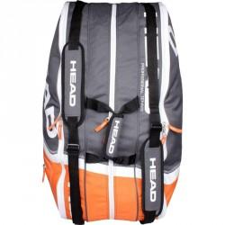 Tenisztáska Head Core 9R Supercombi fekete-narancssárga Sportszer Head