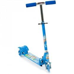 Háromkerekű roller gyerek világító kék 3 kerekű roller