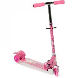 Háromkerekű roller világító, rózsaszín 3 kerekű roller