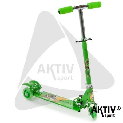 Háromkerekű roller világító, zöld