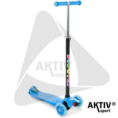 Háromkerekű roller Maxi világító kék
