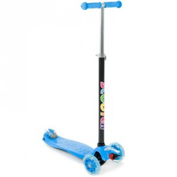 Háromkerekű roller Maxi világító kék 3 kerekű roller