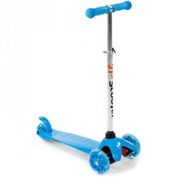 Háromkerekű roller világító kék-fehér 3 kerekű roller