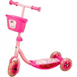 Háromkerekű roller zenélő, világító rózsaszín 3 kerekű roller