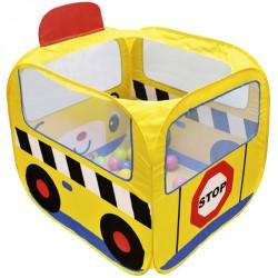 Iskolabusz játszósátor színes labdákkal Ks Kids Készségfejlesztő játékok Ks Kids