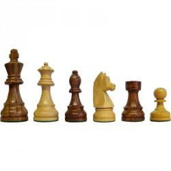 Sakk készlet nehezített barna-fehér fa Játék