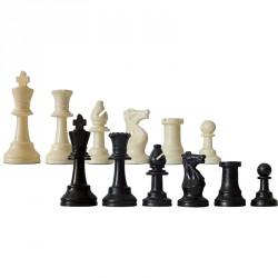 Sakk készlet fekete-fehér műanyag Játék